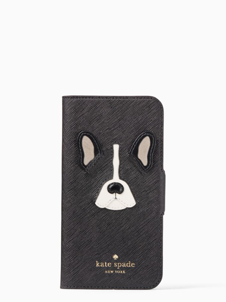 Antoine Applique Folio Iphone 6 Plus Case, Black
