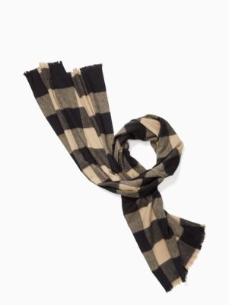 mega check scarf