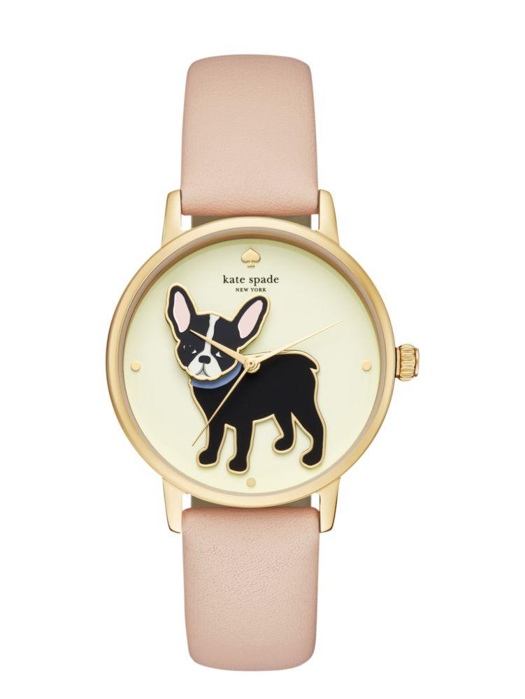 Antoine Metro Grand Watch, Gold/Vachetta