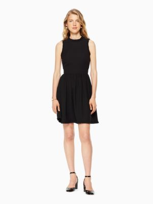 ruffle fit and flare dress
