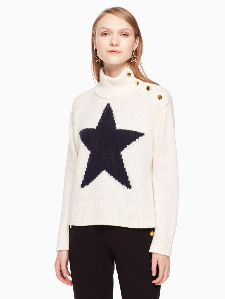STAR TURTLENECK SWEATER